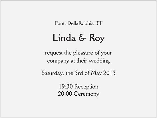גופנים להזמנות חתונה באנגלית - כתב דפוס
