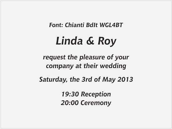 Fonts For Wedding Invitations הזמנות לחתונה Paperboutique