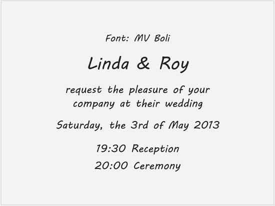 גופנים להזמנות חתונה באנגלית - כתב יד