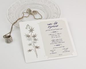 הזמנות חתונה מעוצבות - שולי ואבי