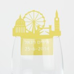 קישוט כוס יין - לונדון קו רקיע