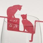 קישוט כוס יין - חתולים
