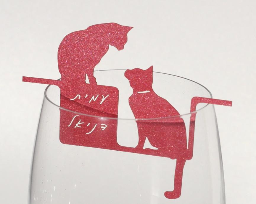 קישוט כוס יין