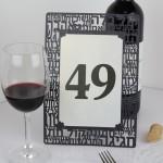 מספרי שולחן מעוצבים חתוכים בלייזר