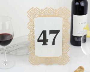 מספרי שולחן בעיצוב תחרה