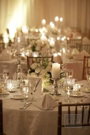 מסיבת חתונה לבנה - תאורה