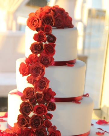 עוגת חתונה פרחים