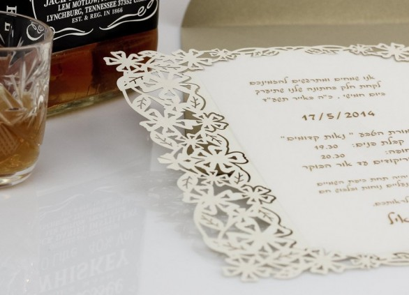 הזמנות לחתונה – חיתוך בלייזר