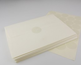 מדבקה שקופה למעטפה